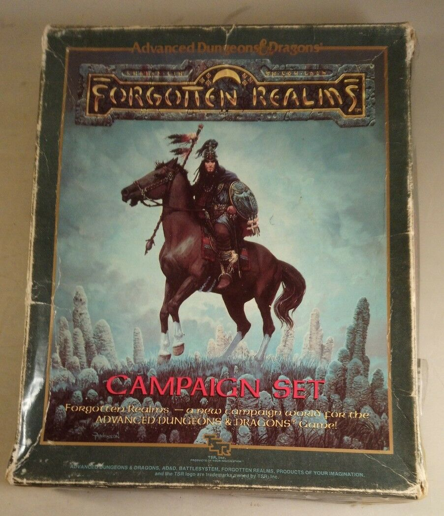 Advanced dungeons and dragons forgotten realms campaign setting boxset 1031
