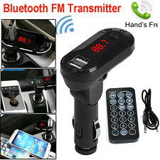 Car Kit Bluetooth Wireless FM Transmitter MP3 Player Handsfree USB TF SD Remote