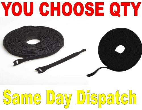 VELCRO® brand cable ties 200mm 300mm reusable hook and loop cable tidy