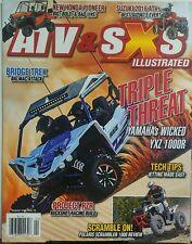 ATV & SXS Illustrated Vol 13 Issue 8 Triple Threat Yamaha 1000R FREE SHIPPING sb