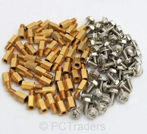 50x-6-5mm-Brass-Standoff-6-32-M3-PC-Case-Motherboard-Riser-Screws