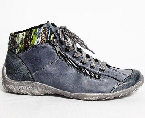 Remonte Stiefeletten Damen Schuhe Leder Damenschuhe Damenschuhe Damenschuhe Stiefel Blau R3456-14 1be79c