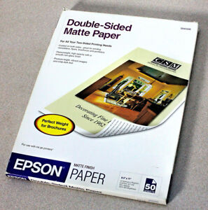 Details about BOX EPSON DOUBLE-SIDED MATTE PAPER – INKJET