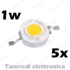5X Chip led 1W bianco freddo 350mA 3V 3.6V alta luminosità lampadina lampada