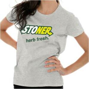 Women/'s Graphic T-Shirt KUSH Marijuana T-shirts Women/'s Cannabis T-shirts 420 Accessories /& Stoner Girl Gift Shirt
