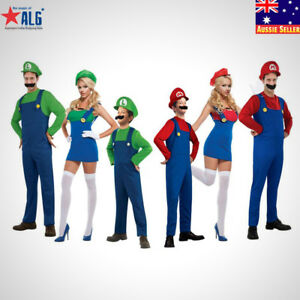 Image Is Loading Kids Adult Mario Luigi Bros Fancy Dress World