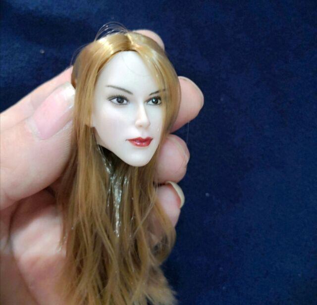 1//6 Scale Beauty Girl Head Model Fit 12/'/' Pale Female Body