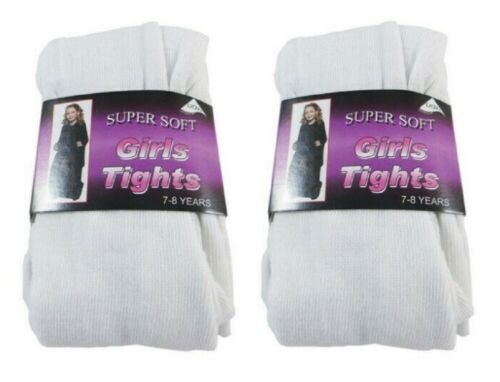 Girls School Tights Super Soft Cotton Rich Back 2 School Ages 3 to 12