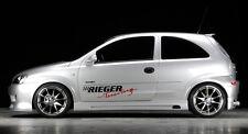 Rieger Seitenschweller mit Schacht und Ausschnitt für Opel Corsa C 3-türer