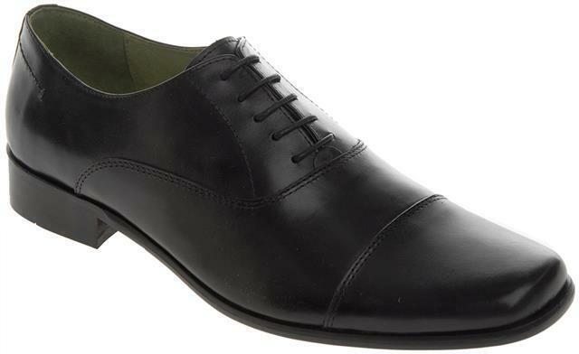 Walktall Porto Oxford Lacet Habillé Chaussures Noires Grand pour Hommes UK
