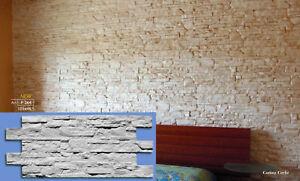 Rivestimento per pareti effetto pietra pannello in gesso ceramico