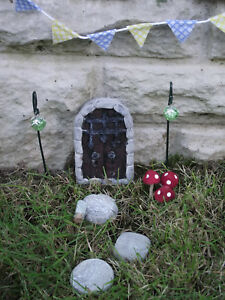 Image is loading Hand-Made-Portcullis-Fairy-Garden-Kit-Fairy-Door- & Hand Made Portcullis Fairy Garden Kit Fairy Door Stepping Stones ...