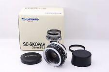 """""""Top Mint"""" Voigtlander 35mm F2.5 SC Skopar Lens 35/2.5 Nikon Rangefinder #087"""