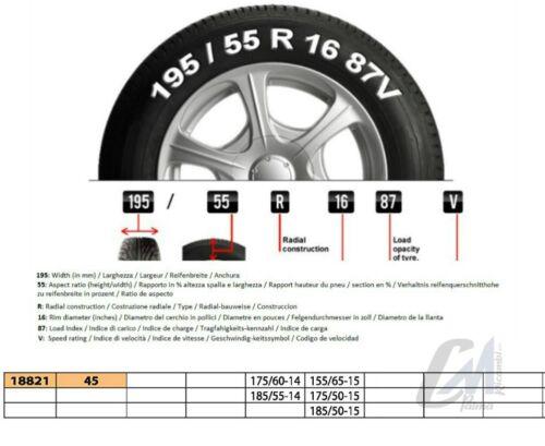 045 18821 CATENE NEVE AUTO 9mm 175//60-14 155//65-15 185//55-14 175//50-15 185//50-15