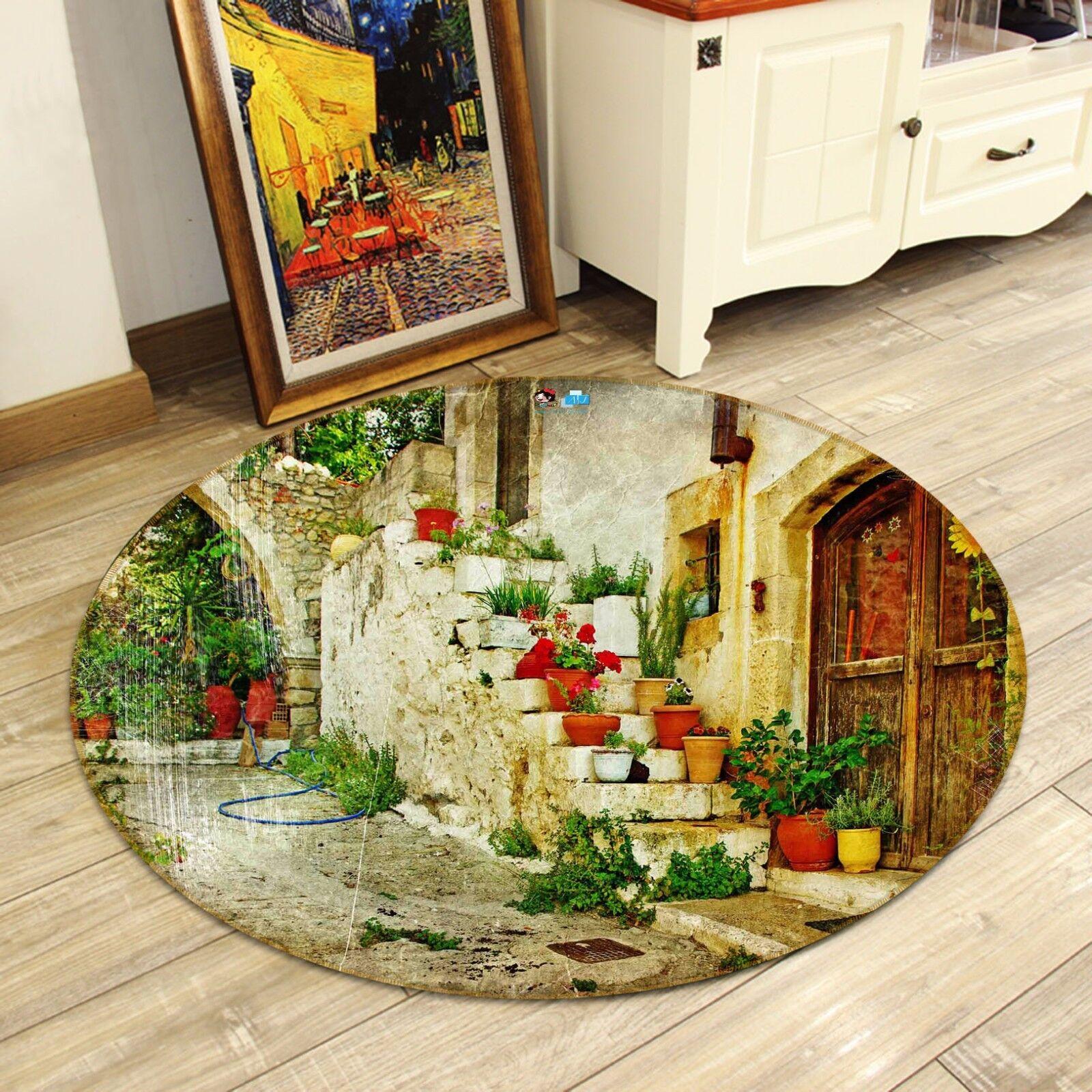 3D Nostalgic Courtyard 7 Non Non Non Slip Rug Mat Room Mat Round Elegant Photo Carpet CA 90e4ec