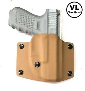 Details about VLTactical Kydex OWB Holster for Glock 19X and 19/23/25/32  with Leather Inside