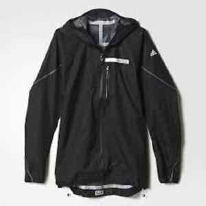 09a7d0d493 Details about Adidas Terrex Agravic Men's Outdoor Jacket S09340 Black  LIGHTWEIGHT $240 XL 2XL