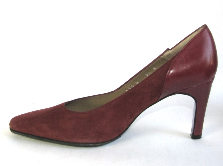 CHARLES JOURDAN Court shoes vintage all leather red red red 5.5 36 36.5 MINT 50bc8a