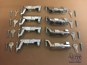 8 Chrome Compression Latch  Lever Lock Horsebox Trailers Locker Door Tack Box C2