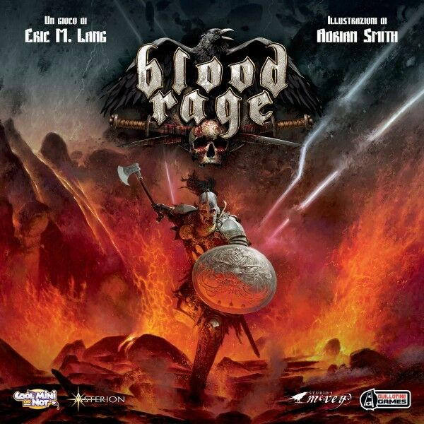 Blood rage,  table game cool mini or not by eric lang, nouveau, italian  100% garantie d'ajustement
