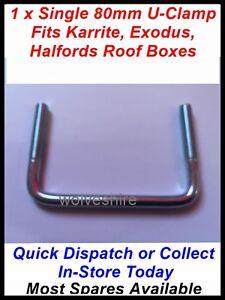 1 Single 90mm Roof Box U Clamp Fits Thule Karrite Odyssey