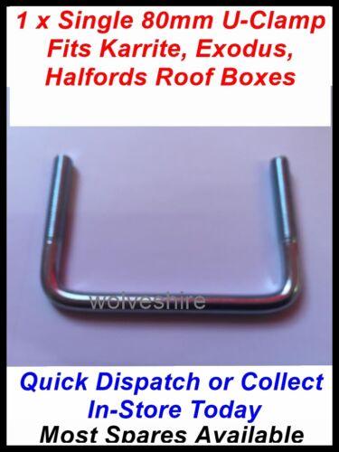 1 solo 90MM caja de techo se adapta THULE Karrite U-clamp odisea Halfords /& éxodo Caja