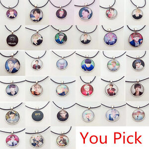 Fashion-Kpop-BTS-Bangtan-Boys-Silver-Bronze-Handmade-Pendant-Necklace