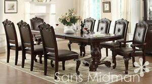 Details about Furniture NEW! Kira 9 pc Formal Dining Room Set, Table w/2  leaves and 8 chairs