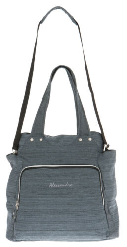 Sporttasche Damen Shopper Alessandro Workout Bag Tasche 12315 Grau Türkis f
