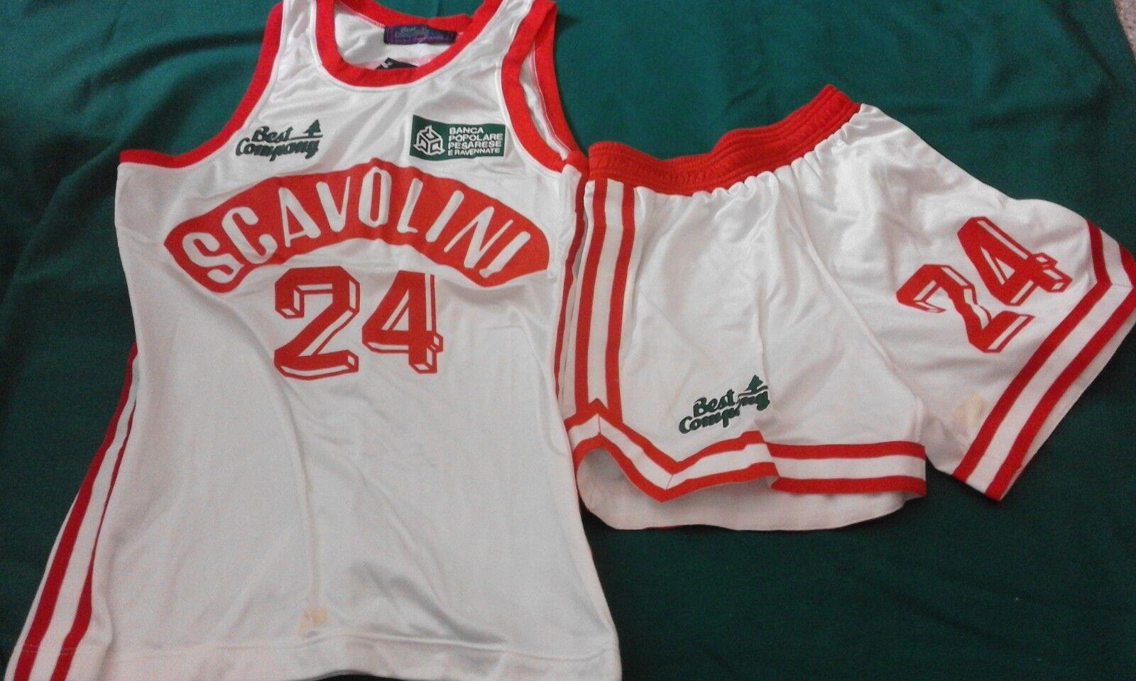 Pesaro 1990 pallacanestro shirt maglia Best Company Cocheretti Scavolini basket