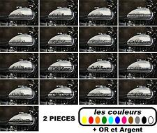 2x Stickers autocollant réservoir moto café racer / bobbers / 17 modèles ver.A