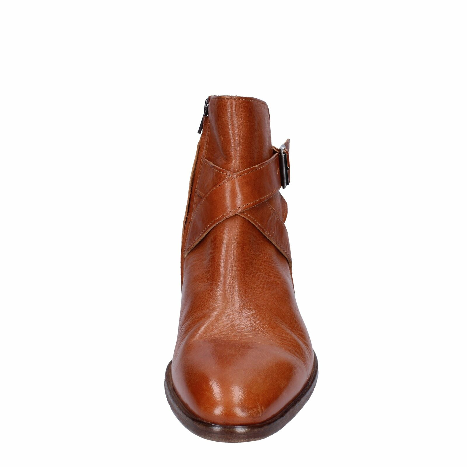 Shoes man Moma Boots Brown Leather bk57