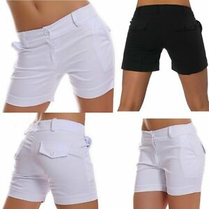 Sexy-Miss-Ladies-short-Business-Style-Trousers-Fabric-34-36-38-40-42-New