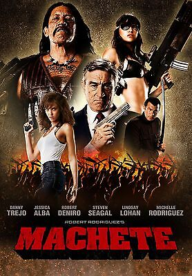 "MACHETE Movie Silk Poster Danny Trejo Robert Rodriguez  24/""x36/"" 11/""x17/"""