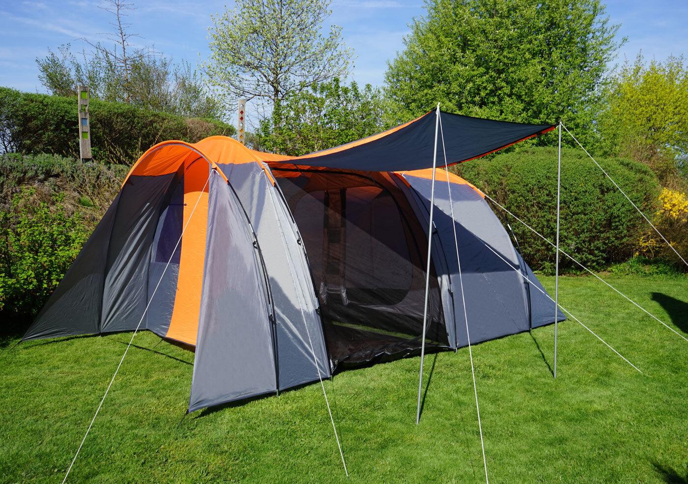 Kuppelzelt MCW-A99, Campingzelt Zelt Festival-Zelt, 6 Personen Personen Personen Orange/grau 17716d