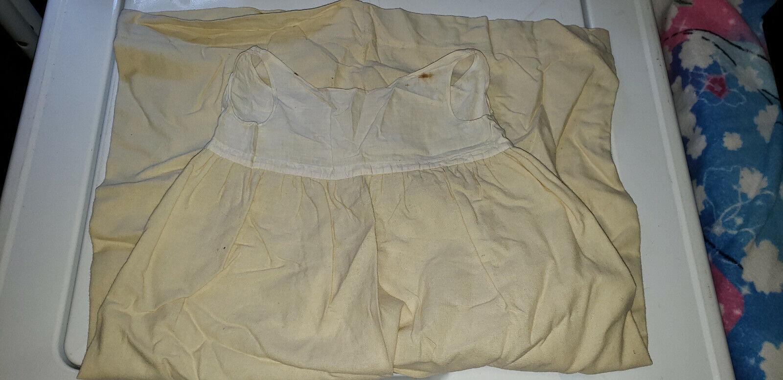 19th Century Victorian Era Children's Girls Prairie Dress Slip Undergarment