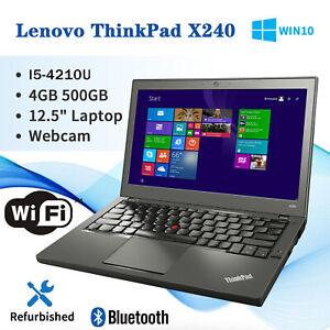 "Lenovo Thinkpad X240 12.5"" Intel i5-4210 1.9GHz 4GB RAM 500GB Windows 10 Pro"