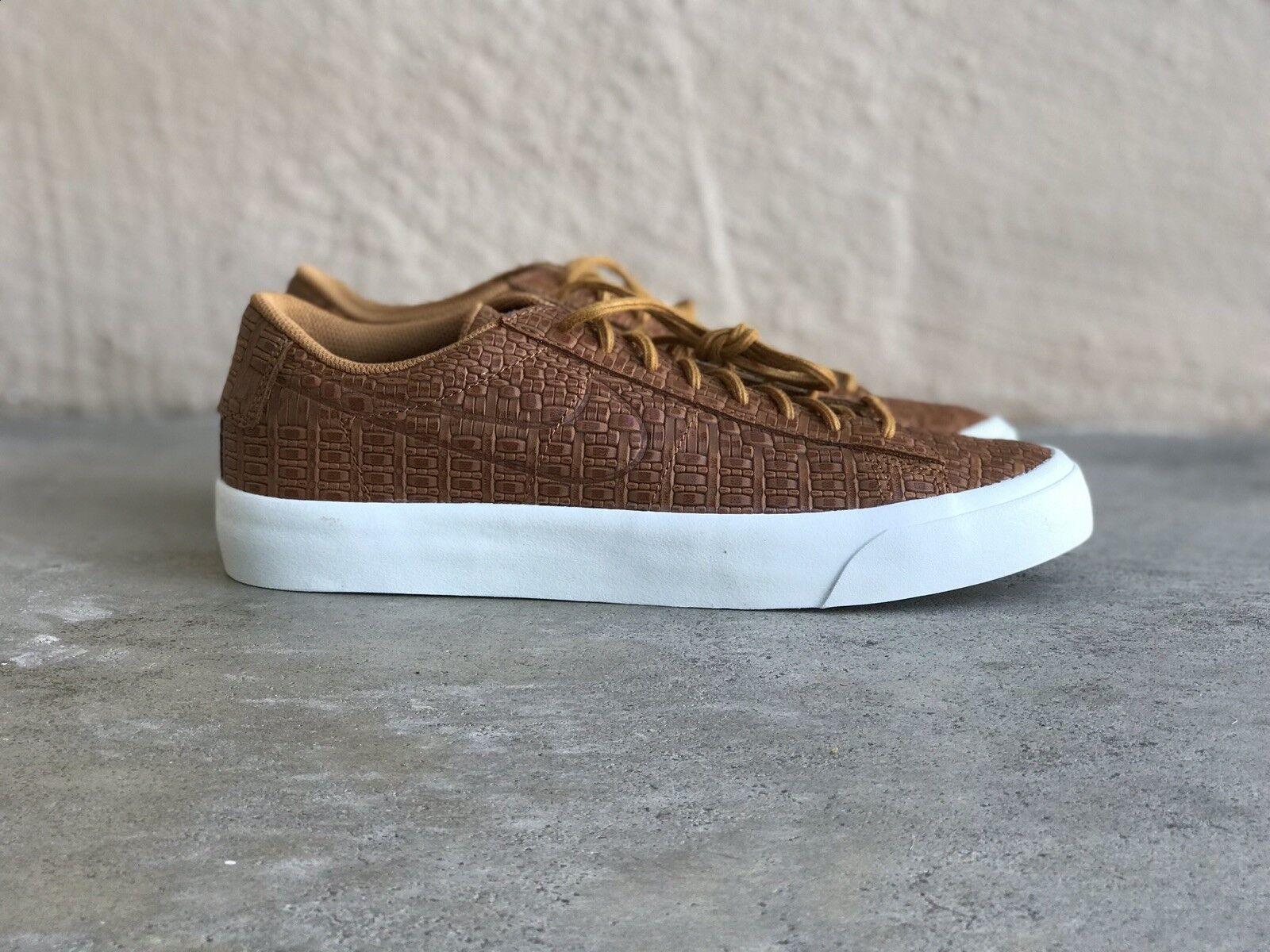 NIKE BLAZER STUDIO Low Mens sz 8.5 880872 700 Desert Ochre Croc Athletic shoes