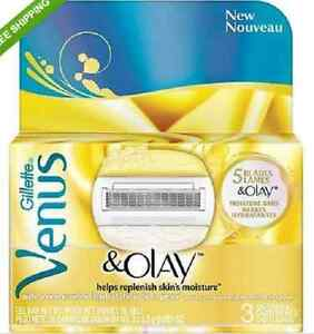 Gillette Venus & Olay Razor Blade Refills, 3 ea   eBay