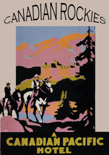 Decor Poster.Fine Graphic Art Design.Canadian Rockies.Home Shop Design Art.710