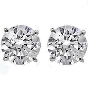 14K-GOLD-CREATED-DIAMOND-2-86-CARAT-ROUND-SHAPE-STUD-PUSH-BACK-EARRINGS-5mm