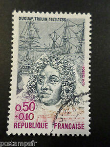 FRANCE-1973-timbre-1748-DUGUAY-TROUIN-CELEBRITY-oblitere-VF-USED-STAMP
