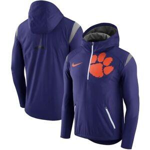 e5bbf9894 Men s Nike Purple Clemson Tigers Sideline Fly Rush Half-Zip Jacket ...