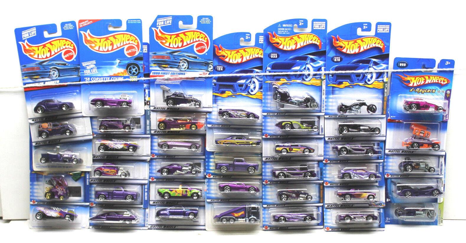solo para ti 35 PC Hot Wheels púrpura púrpura púrpura Coche Camión Van Coupe Racer Surtido Die Cast Lote NOC  punto de venta en línea