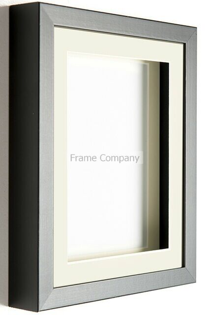 Black or White Wooden Picture Photo Box Frames with Mounts by the Frame Company
