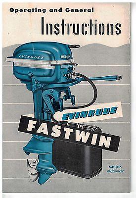 NEW 1950s Zephyr Models 4429-4431 Evinrude Outboard Motor Owner/'s Manual NOS