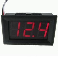 DC 0-30V Alambre LED 3-Pantalla Digital Voltaje Voltímetro precisa Panel Rojo UK