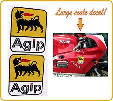 Agip decal sticker large decals ducati moto guzzi magni aprilia mv agusta - PAIR