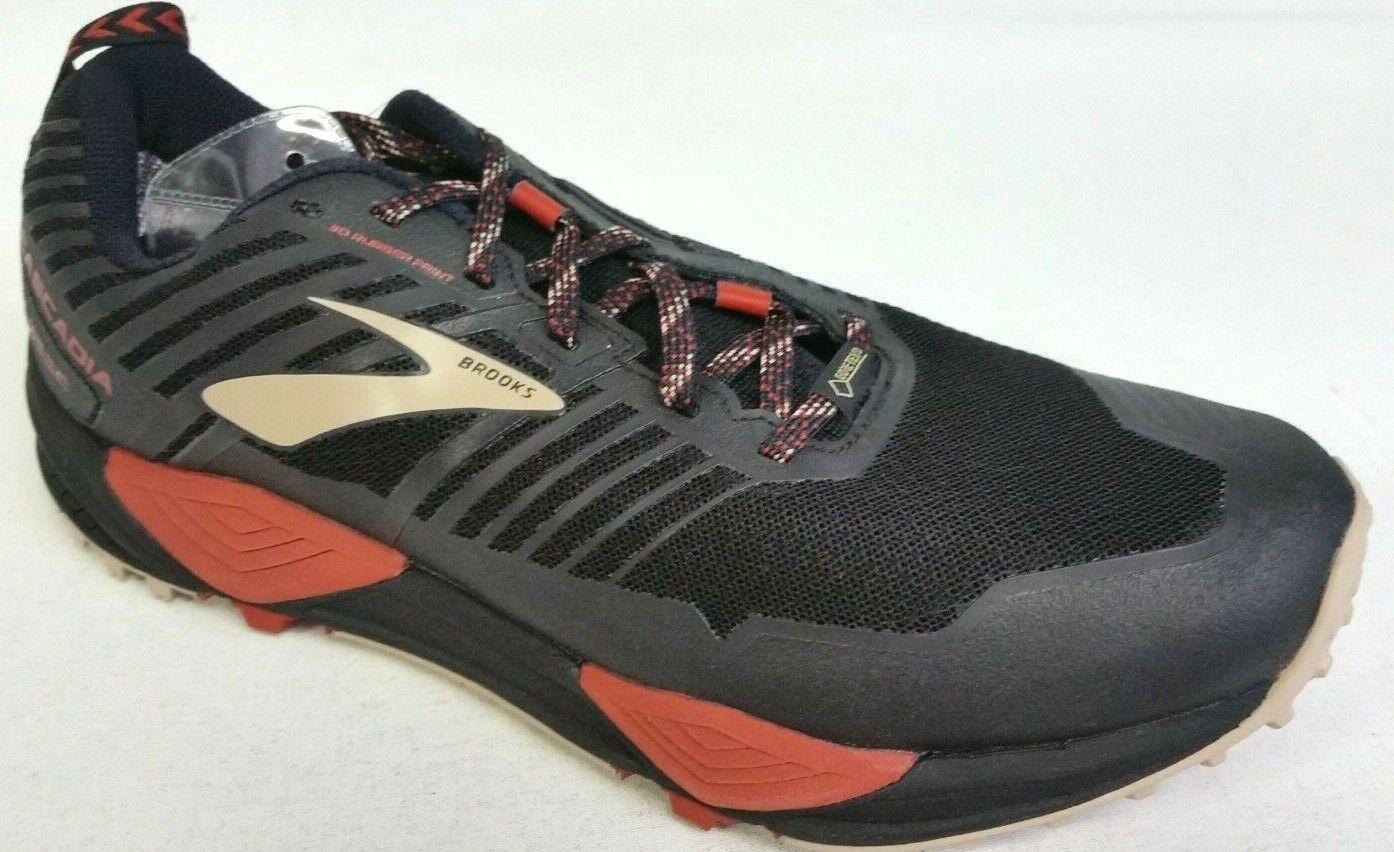 New Men's Brooks Cascadia 13 GTX Running shoes - Size 9 - Black Brick Tan