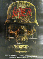 Slayer Testament Carcass 2016 North American tour poster NEW